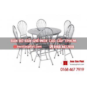 bán bộ bàn ghế inox tphcm giá rẻ