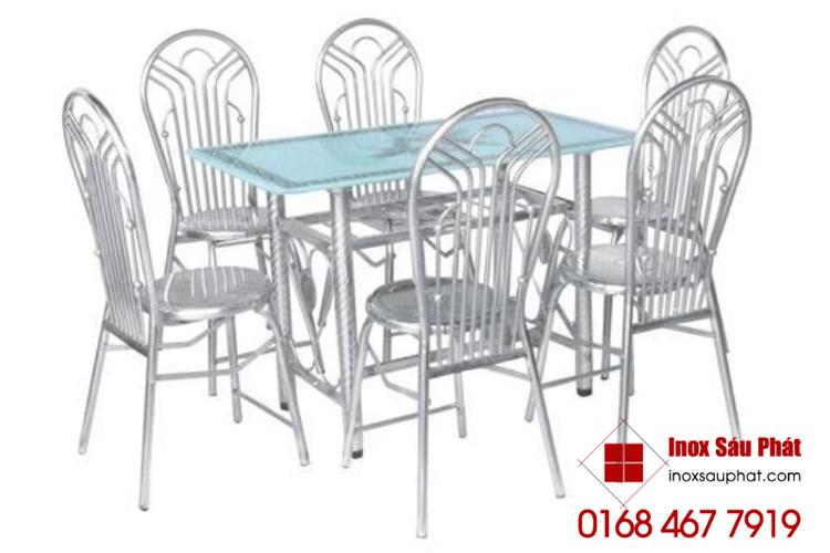 Bán bộ bàn ghế inox cho phòng ăn, phòng khách tphcm