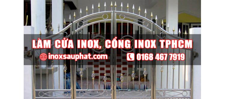 Nhận làm cửa làm cổng inox ở tphcm