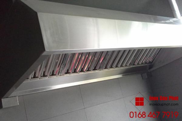 Dịch vụ làm hệ thống máng hút khói inox cho bếp gia đình, bếp công nghệp ở TPHCM của cửa hàng Inox Sáu Phát