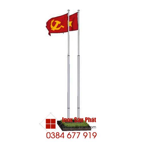 Cột cờ inox - làm cột cờ inox ở TPHCM - Sáu Phát