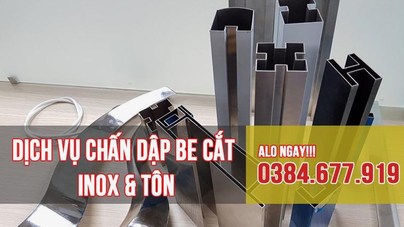 Dịch vụ chấn inox dập be inox theo yêu cầu TPHCM - inox Sáu Phát